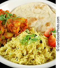 indiano, vegetariano, curry