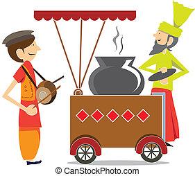 Indian/Pakistani food cart