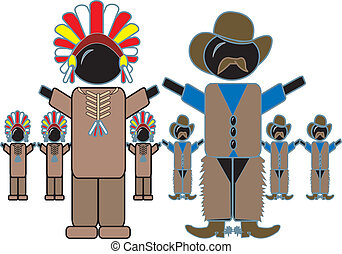 indians, cowboy