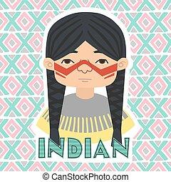 Indians Man vector illustration