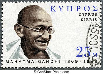 india's, 1970:, centenary, frimærke, gandhi, -, 1970,...