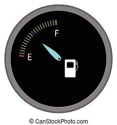 indicador, combustible, dispositivo