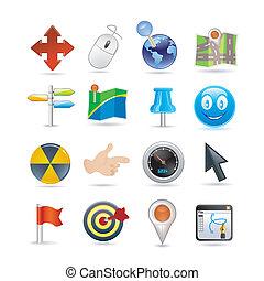 indicadores, conjunto, icono