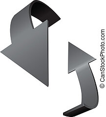 indicar, rotação, setas