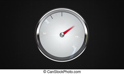Indicated 6 o'clock point. gauge or watch animation.