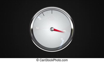 Indicated 8 o'clock point. gauge or watch animation.