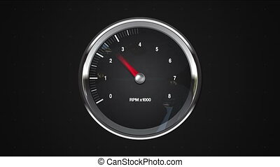 Indicated 8 point of RPM gauge. animation.(included alpha)