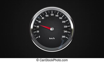 Indicated point of KMPH gauge.