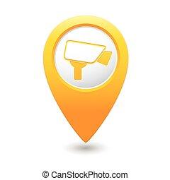indicateur, appareil-photo surveillance, icône