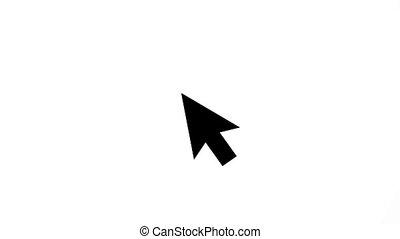 indicateur, flèche, cliqueter, animation, souris, mouvement