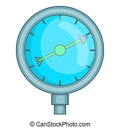 indicateur, style, carburant, dessin animé, icône, appareil