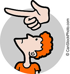 Creative design of indication hand