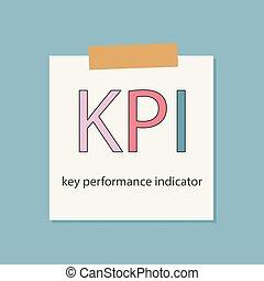 indicator, aantekenboekje, geschreven, papier, klee, kpi, opvoering