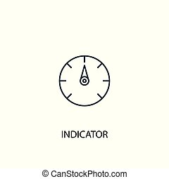 indicator concept line icon. Simple element illustration. indicator concept outline symbol design. Can be used for web and mobile