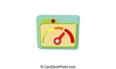 Indicator icon animation best object on white background