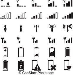 Indicator icon set for your design
