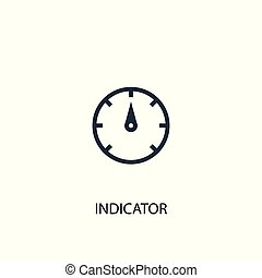 indicator icon. Simple element illustration. indicator concept symbol design. Can be used for web