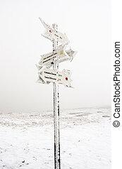 Indicator in the mountain - Mountain indicator in Ciucas...