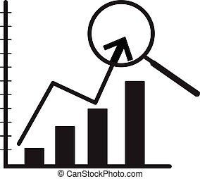 indicator of business on white background. indicator of business sign.