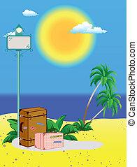 Indicator on beach