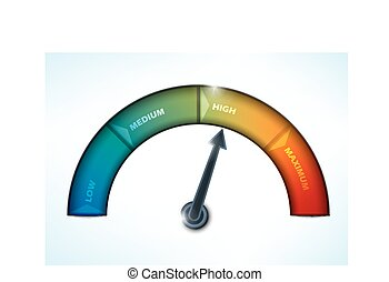 indicator showing a progress of performance level