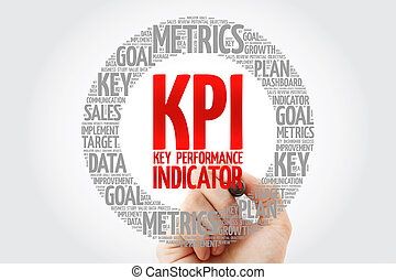 indicatore, -, chiave, kpi, esecuzione, cerchio