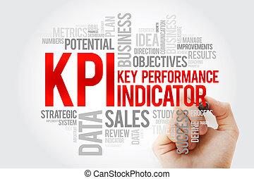 indicatore, -, chiave, kpi, pennarello, esecuzione