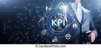 indicatore, industriale, affari, concept., chiave, kpi, esecuzione