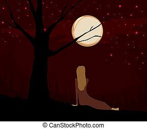 indicatore, luna