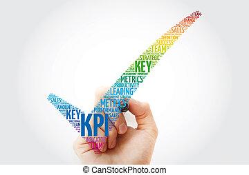 indicatore, -, marchio, chiave, esecuzione, kpi, assegno
