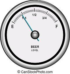 indicatore, puntatore, birra, livello