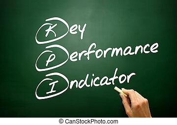 indicatore, str, concetto affari, mano, chiave, esecuzione, disegnato, (kpi)