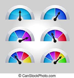 indicatoren, diagram, set