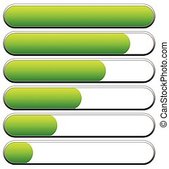 indicators., ladda, editable, nivåer, vektor, låg, high., ...