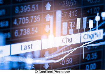 indice, indicatore, finanziario, astratto, globale, analisi, trafficare, fondo., casato, dati, concept., mercato, led.