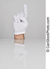 indice, main haut, doigt