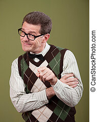 indice, nerd, pointage doigt