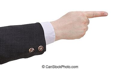 indice, pointage, -, main, doigt, geste
