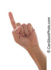 indice, toucher, doigt
