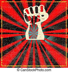 Indie DJ Set Flyer - Background illustration in a soviet...
