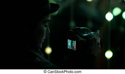 Indie Filmaker Recording a Model - Young adult indie...