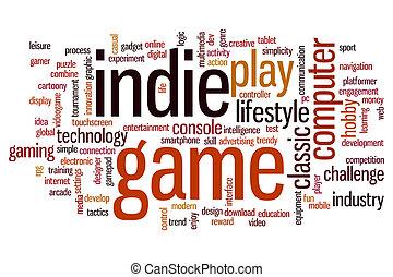 Indie game word cloud - Indie game concept word cloud...