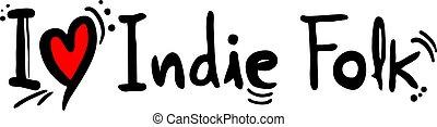 indie, stijl, muziek, folk-music