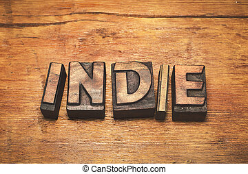 indie wood vintage