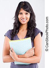 indien, étudiant, mignon, université