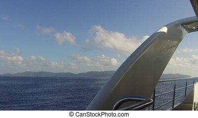 indien, bateau, voile, océan