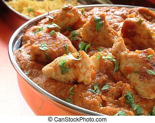 indien, curry, repas