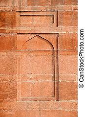 indien, détail, architectural