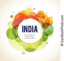 indien, dag, oberoende