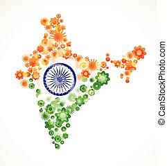 indien, dag, uafhængighed